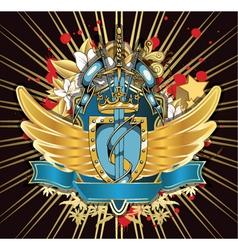 vintage crest vector image