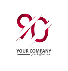 90 year anniversary your company template design vector