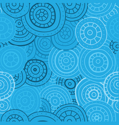 Abstract seamless pattern of circles lines and vector