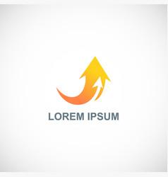 arrow loop business logo vector image