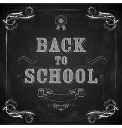 Back to School on chalkboard vector
