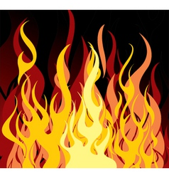 background 32 flames vector image