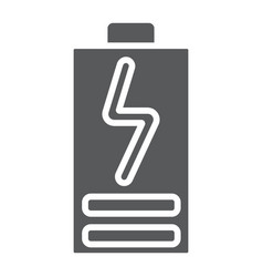 Battery load glyph icon electric and power vector