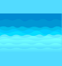 blue abstract ocean waves background vector image