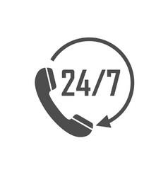 Call 24 icon call centre vector