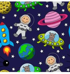 Cartoon seamless space vector image