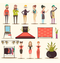 catwalk show elements collection vector image