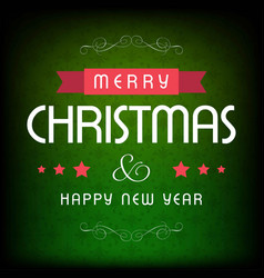 Chrismtas card with green pattern background vector