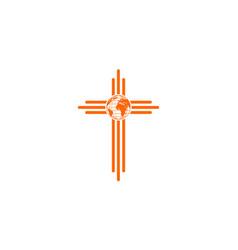 christian world symbol vector image