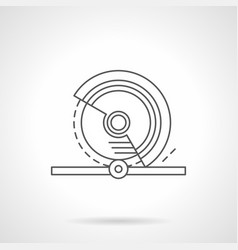 circular saw flat line icon vector image