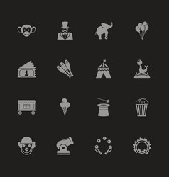 Circus - flat icons vector