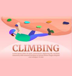 climbing teritory concept banner cartoon style vector image
