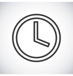 Clock Silhouette icon design graphic vector