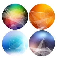 colorful collection set trendy geometric vector image