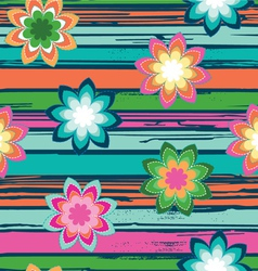 colorful flowers - seamless background vector image