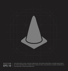 Cone icon - black creative background vector