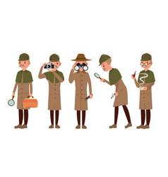 detective character shamus spotter man vector image
