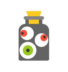eye ball in jar black magic halloween related vector image