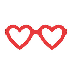 Fashion glasses with heart shape vector