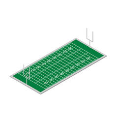 Field of play football isometric vector