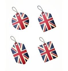 flag united kingdom labels vector image