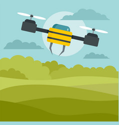 flying drone background flat style vector image