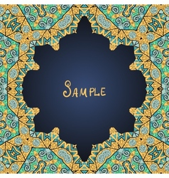 Frame for text in arabian style vector