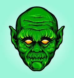 green head monster isolated halloween vector image