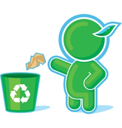 green hero recycle container vector image