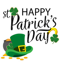 Happy st patrick s day hat background image vector