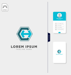 Initial ccmch logo template free business card vector