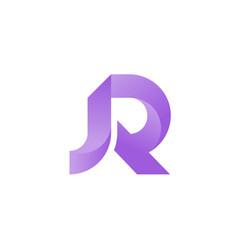 jr letter vector image