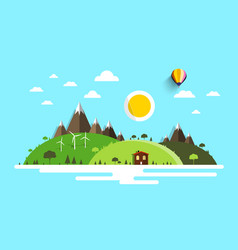 landscape flat design nature scene vector image