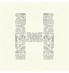 Letter H Golden Monogram Design element vector