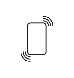 linear phone icon like call or vibration vector image