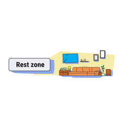 Living room rest zone interior modern apartment vector