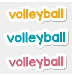 Logo volleyball on a light background vector