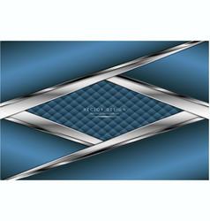 Luxury blue metallic modern design vector