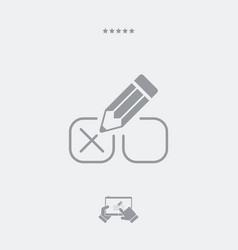 mark option - minimal icon vector image