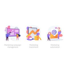 Marketing campaign concept metaphors vector