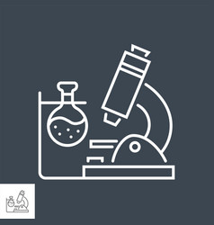medical research related thin line icon vector image