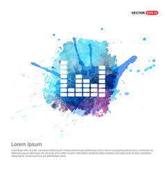 Music sound wave icon - watercolor background vector