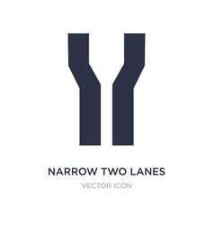 Narrow two lanes icon on white background simple vector