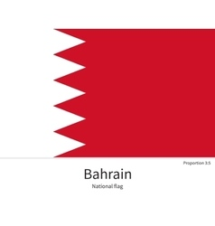 National flag of Bahrain with correct proportions vector image