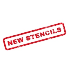 New Stencils Rubber Stamp vector image
