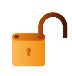Open padlock lisolated icons vector