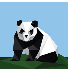 origami panda on grass vector image