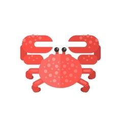 Pink Crab Primitive Style Childish Sticker vector