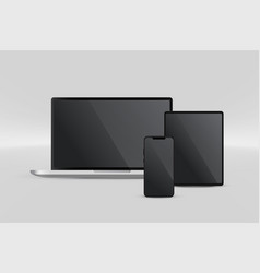 presentation display laptop tablet and vector image