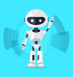 robot and interface azure vector image